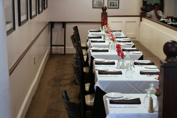 The Warehouse Alexandria, VA Restaurant dining table