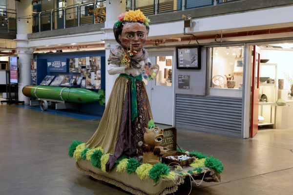 Torpedo Factory Art Center Alexandria, VA Art Center paper mache frida kahlo statue