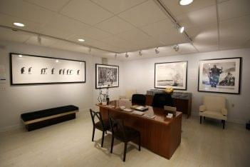 Isabella Garrucho Fine Art Greenwich, CT Art Gallery office desk