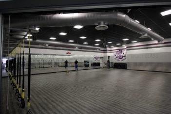 Crunch Fitness Gym West End, Henrico, VA aerobics yoga room