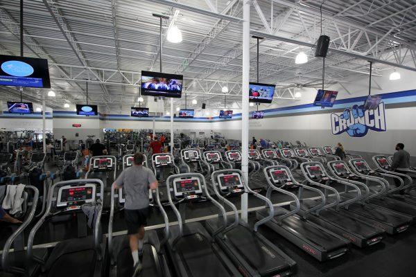 Crunch Fitness Gym at Glenside Dr, Henrico, VA treadmills