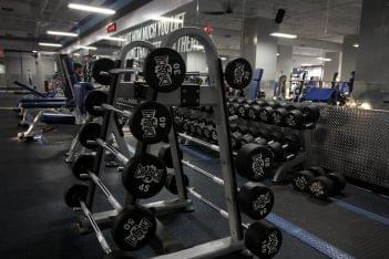 Crunch Fitness Gym at Scott's Addition Richmond, VA barbell weights