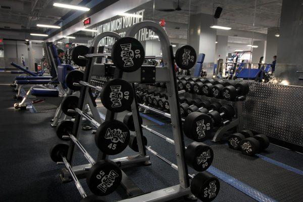 Crunch Fitness Gym at Scott's Addition Richmond, VA barbell weights