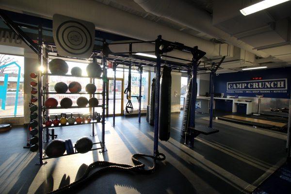 Crunch Fitness Gym at Scott's Addition Richmond, VA medicine balls