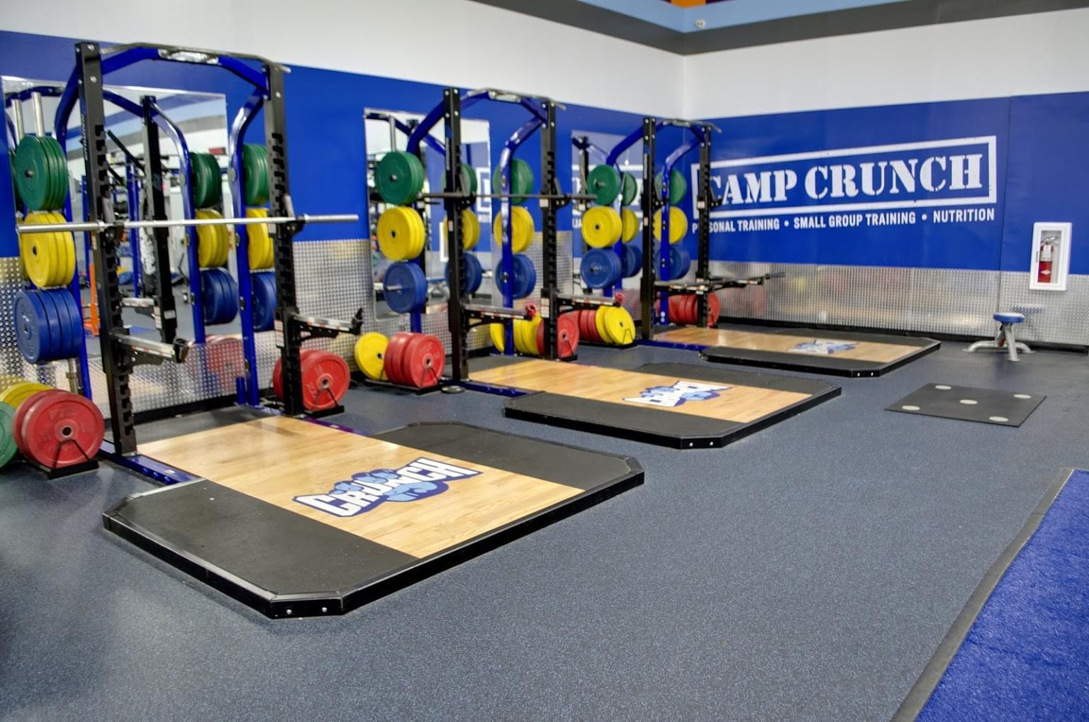 Crunch Fitness Gym in North Charleston, SC squat rack