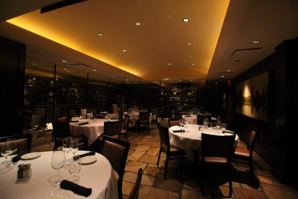 Del Frisco's Double Eagle Steak House in New York City wine cellar