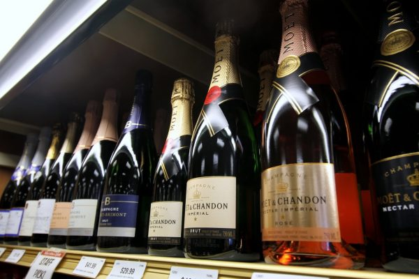 Traino's Wine & Spirits Liquor Store in Voorhees, NJ champagne bottles