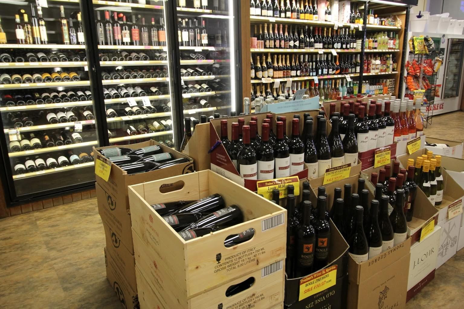 Traino's Wine & Spirits Liquor Store in Voorhees, NJ