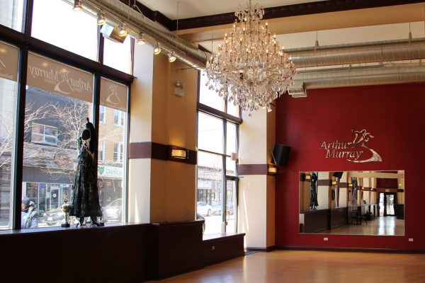 Arthur Murray Lakeview dance studio North Chicago IL mirror