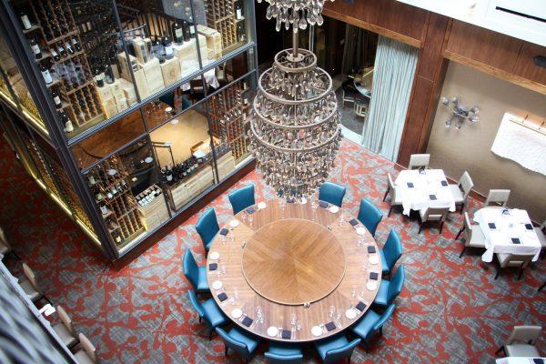 Del Frisco's Double Eagle Chicago chandelier
