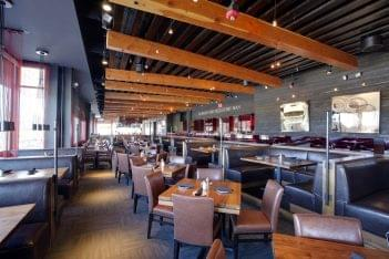 Del Frisco's Grille Chestnut Hill MA dining area kitchen line