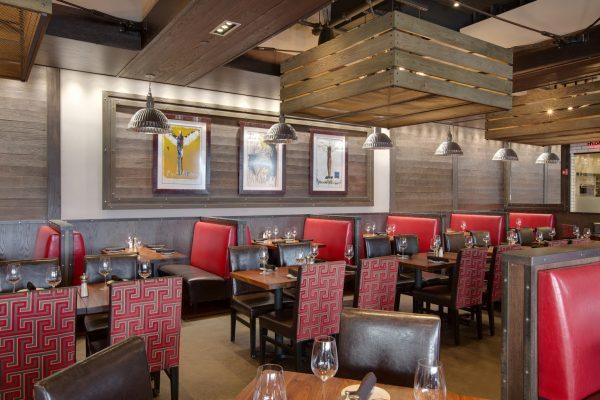 Del Frisco's Grille steakhouse Burlington MA dining area