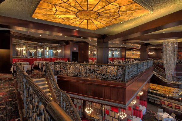 Del Frisco's Double Eagle Steak House at the Galleria in Houston, TX mezzanine