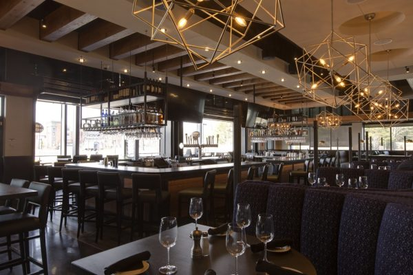 Del Frisco's Grille Steak house restaurant in Westwood, MA bar and dining room