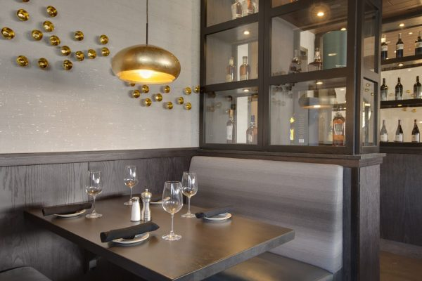 Del Frisco's Grille Steak house restaurant in Westwood, MA booth