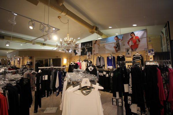 Jan's Boutique dress store in Cherry Hill, NJ racks