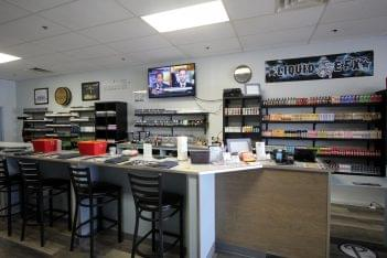 Popie's Vapor Lounge Blackwood NJ washington township display counter wall