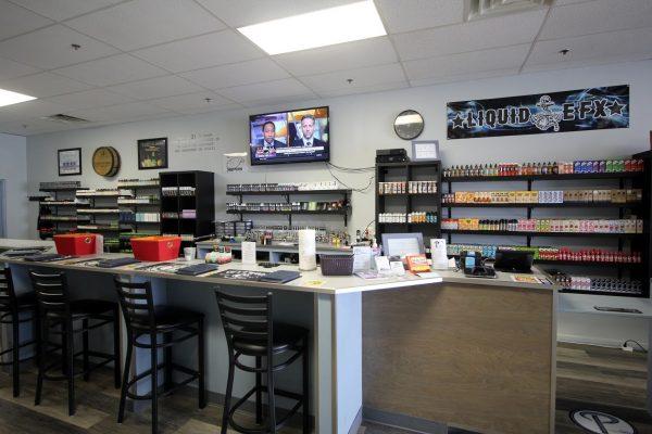 Popie's Vapor Lounge Blackwood NJ washington township display counter wall