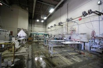 Onur Marble & Granite Building Materials Store in Fairless Hills, PA marble slab cutting room