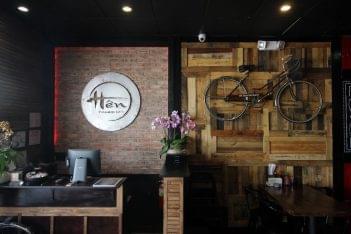 Hen Vietnamese Restaurant in Cherry Hill, NJ cashier logo bicycle