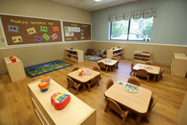 Lightbridge Academy Daycare in Woodbridge, NJ classroom tables for toddlers