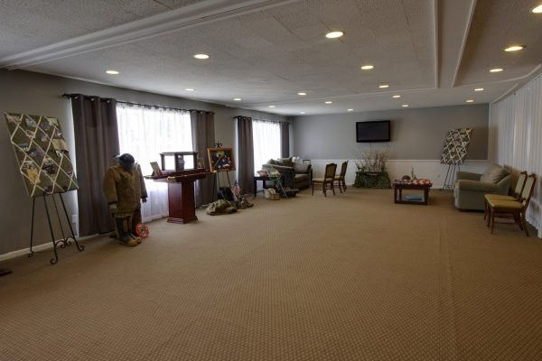 Martin Funeral, Cremation & Tribute Services Funeral Home in Vassar, MI memorial display service room