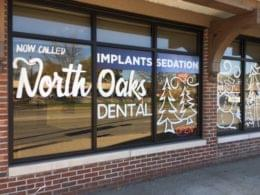 North Oaks Dental Office in Royal Oak, MI front window