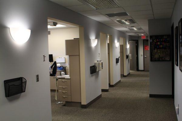 North Oaks Dental Office in Royal Oak, MI interior hallway
