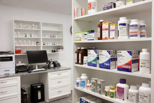 Sweet Home Pharmacy in Yeadon, PA bottles computer