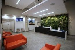Reception area at Restore Integrative Wellness Center medical marijuana dispensary in Frankford, PA lobby