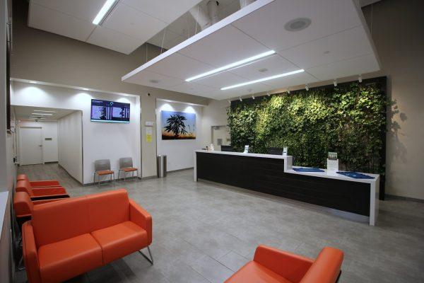 Reception area at Restore Integrative Wellness Center medical marijuana dispensary in Frankford, PA lobby