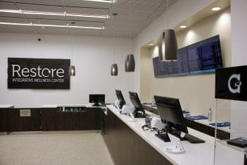 Restore Integrative Wellness Center medical marijuana dispensary in Frankford, PA counter