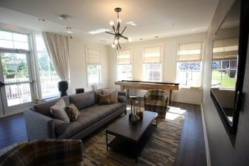 club house lounge at The Forge at Glassworks Apartment Complex in Cliffwood, NJ