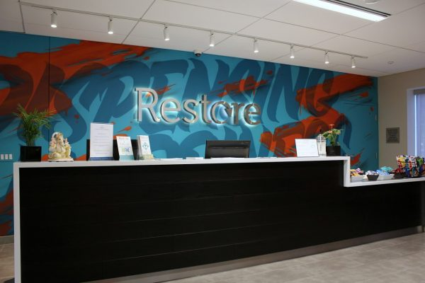 front desk at Restore Integrative Wellness Center Cannabis store in Elkins Park, PA