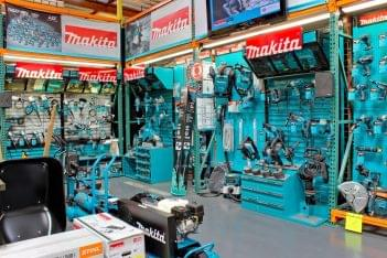 Professional Contractor Supply Hardware store in San Diego, CA aqua blue power tools