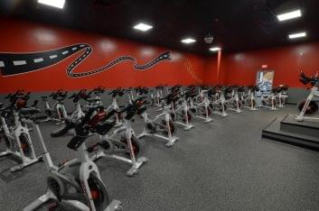 spinning room in Crunch Fitness Gym Health club in Mount Pleasant, SC