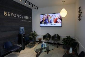 BEYOND HELLO Cannabis store in Bristol, PA waiting room