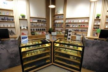 BEYOND HELLO medical marijuana dispensary in Philadelphia, PA displays