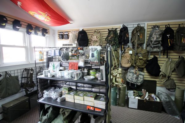 Grandpops Army Navy supply store in Swedesboro, NJ backpacking camping supplies