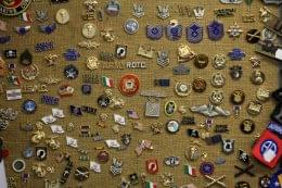 Grandpops Army Navy supply store in Swedesboro, NJ lapel pins