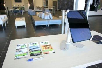 Holman GO Car dealership in Princeton, NJ tabletop tablet