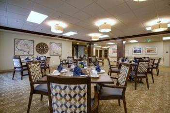 Mission Healthcare at Renton, WA rehabilitation center dining room