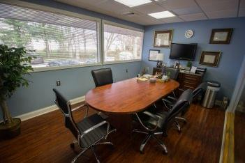 Console and Associates P.C. Personal injury attorney in Cherry Hill, NJ conference room table