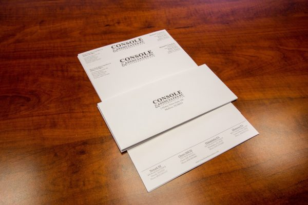 Console and Associates P.C. Personal injury attorney in Cherry Hill, NJ letter stationary envelope