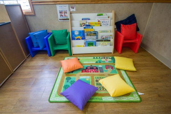 Lightbridge Academy pre-school in Easton, PA reading corner