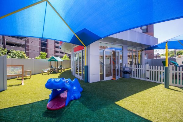 Lightbridge Academy pre-school in Hoboken, NJ playground