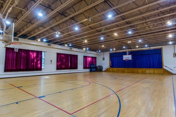 basketball gymnasium at Lightbridge Academy pre-school and daycare in Mahwah, NJ