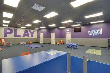 childcare room at Crunch Fitness Ballantyne Gym and Health Club in Charlotte, NC
