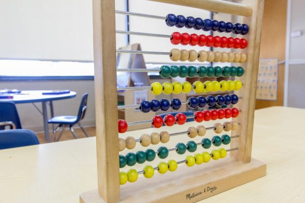classroom abacus in Lightbridge Academy pre-school and daycare in Rutherford, NJ
