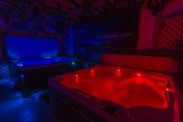 dark blue red hot tub lights Spring Dance Hot Tubs in Jamison, PA